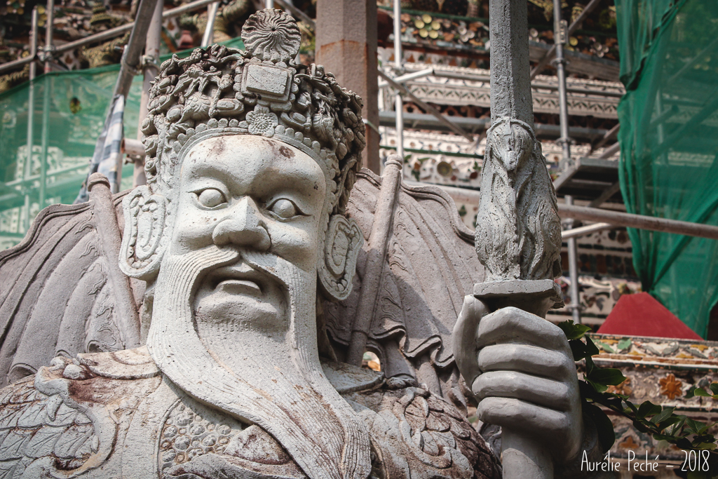 Bangkok, temple de Wat Arun, détail