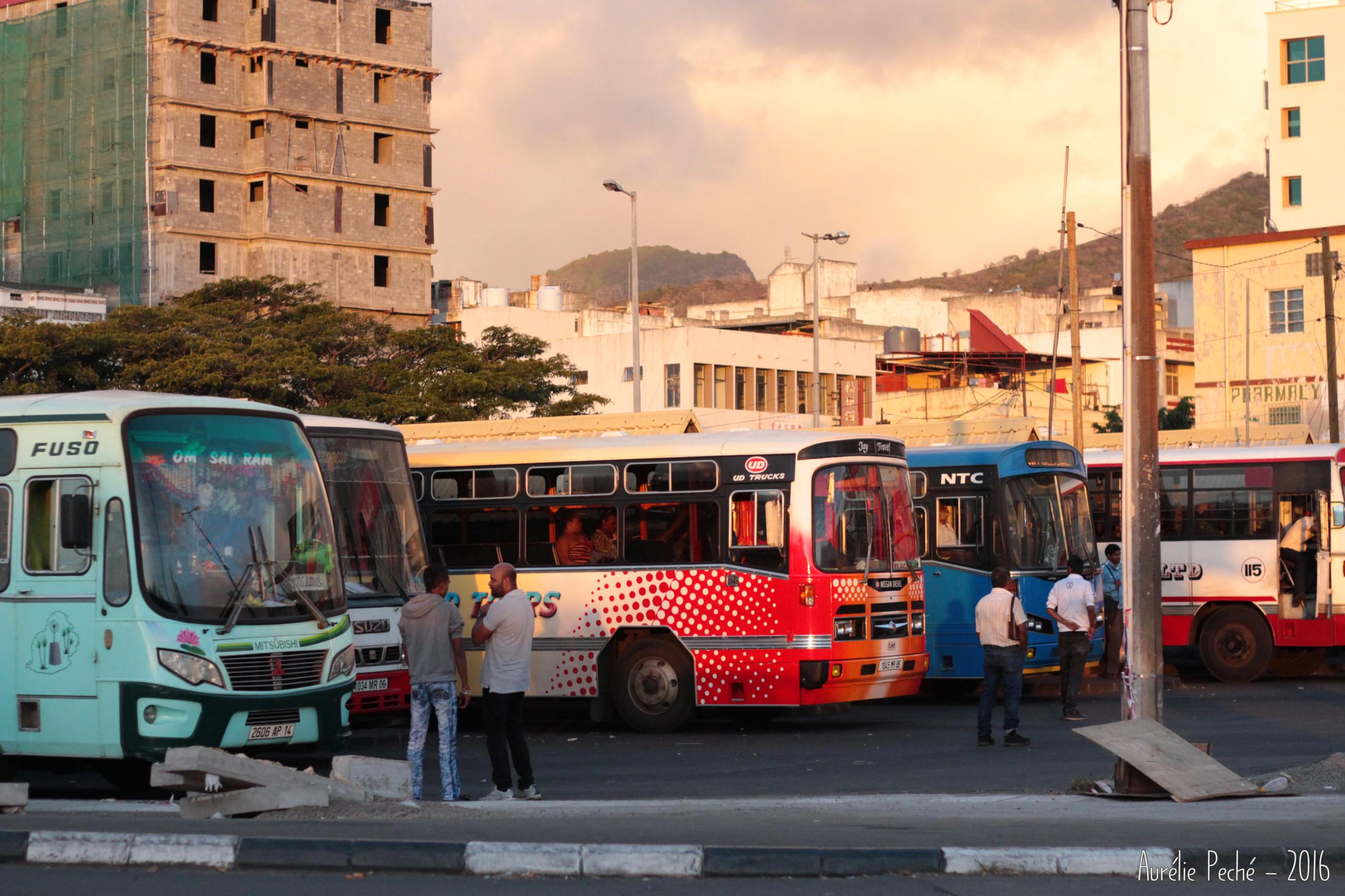 Gare des bus de Port Louis - île Maurice