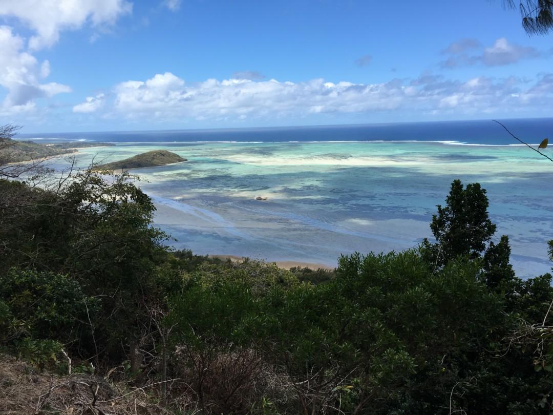 Vue sur le langon durant la montée du Morne - île Maurice