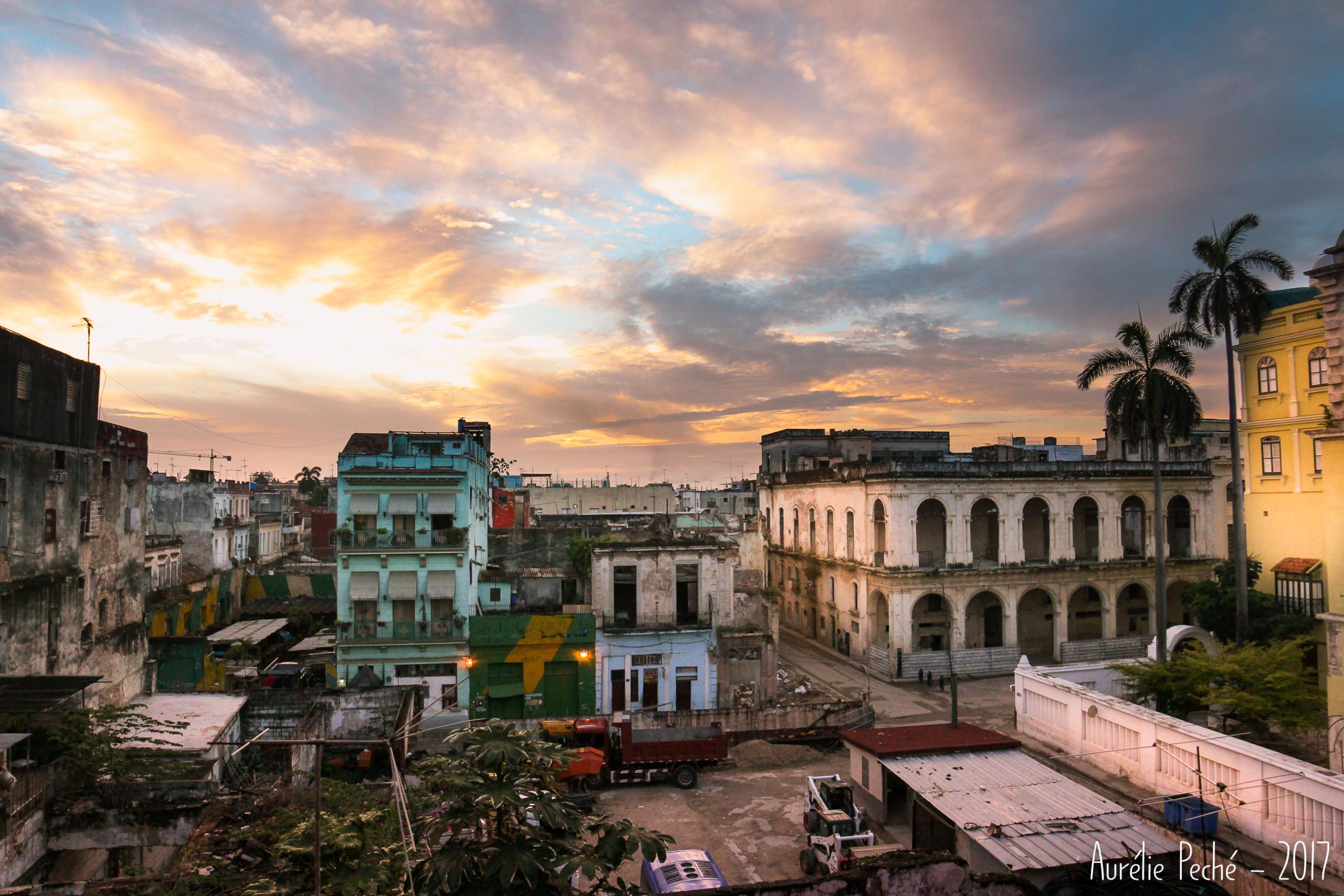 Vue sur la Vielle Havane depuis ma chambre de casa particulare