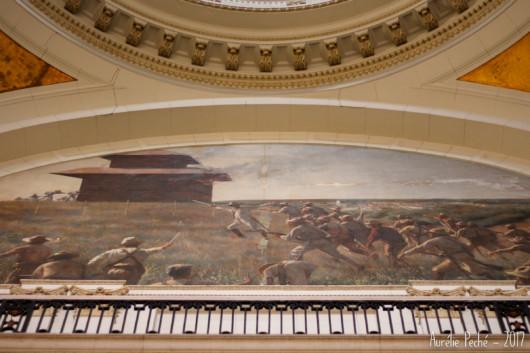 Fresque murale dans le musée de la révolution
