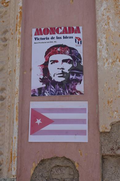 Affiche du Che dans les rues de Santa-Clara, Cuba