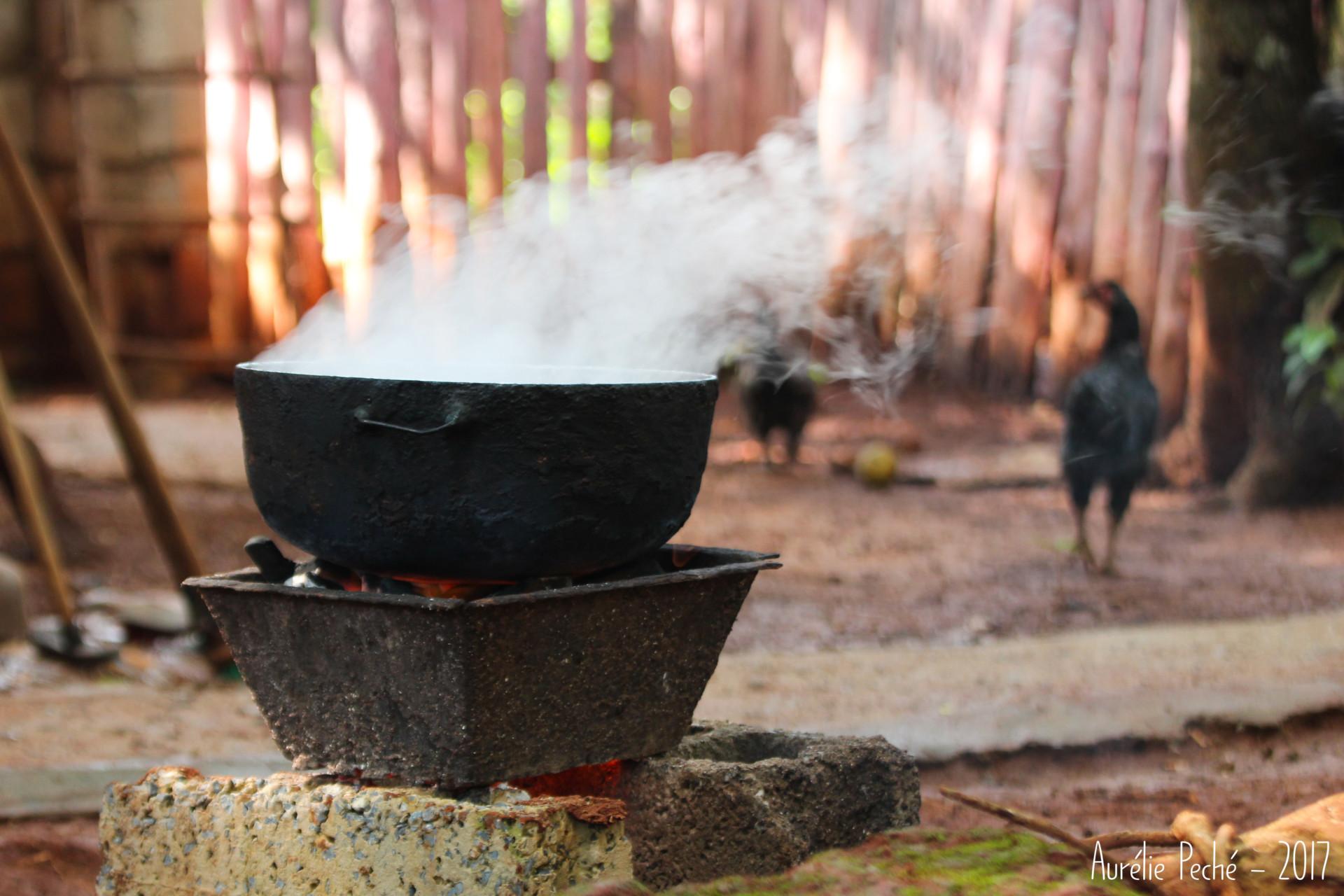 marmite en train de cuire