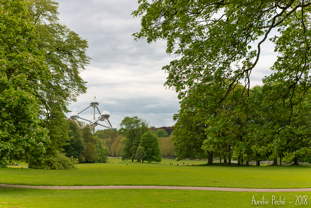 Parce de Laeken, vue sur l'Atomium