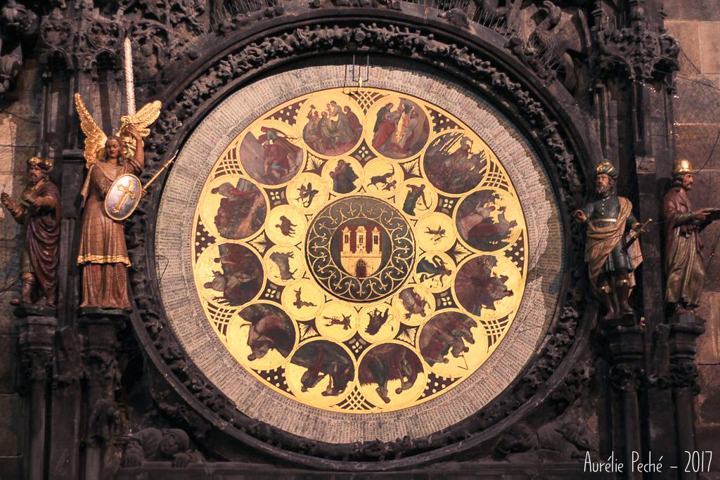 Cadrant de l'horloge astronomique de Prague