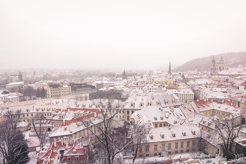 Vue de Prague en hiver