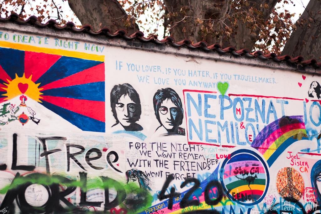 Prague, mur Lennon