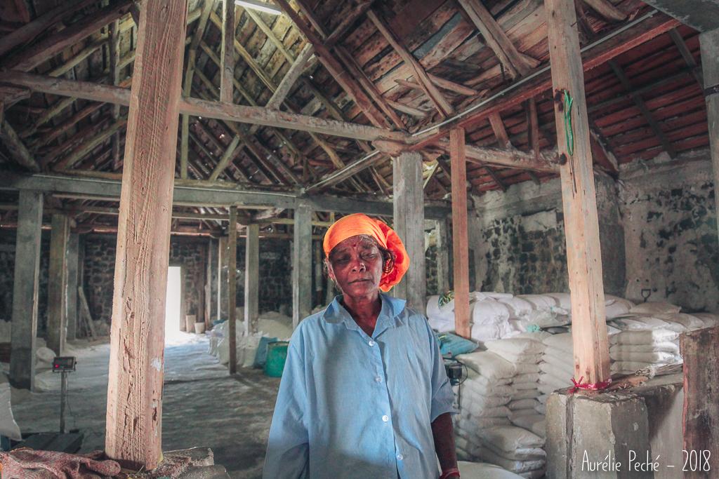 Stockage du sel - Salines de Yemen à Tamarin