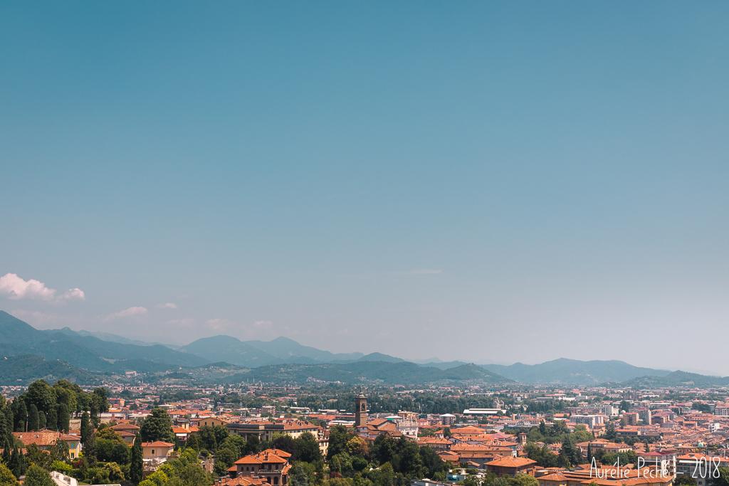 Vue sur Bergame depuis La Porta San Giacomo