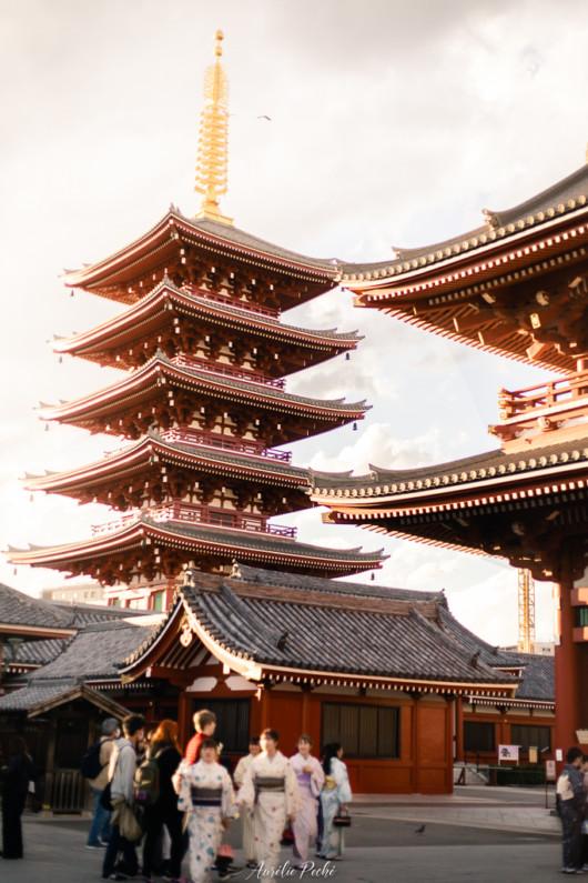 Le senso-ji et sa pagode