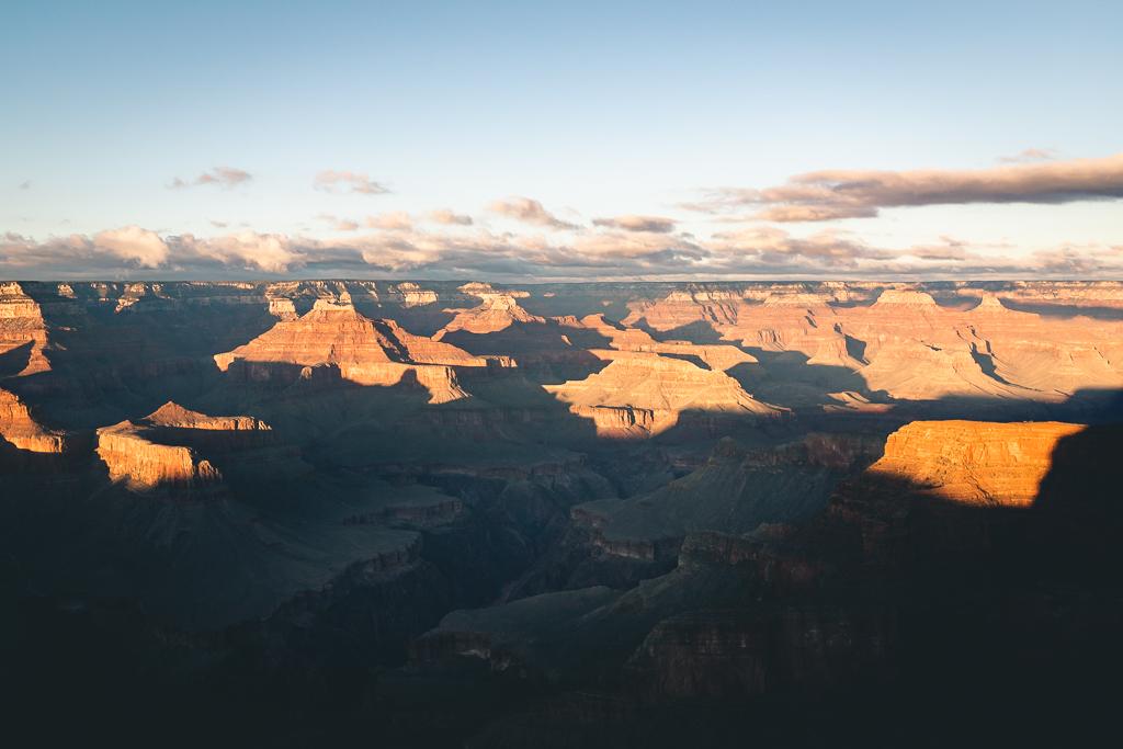 Road trip aux USA : coucher de soleil sur le grand canyon