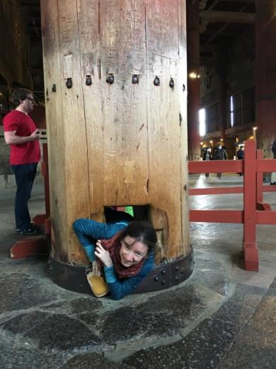Le pilier creux au Todai-ji