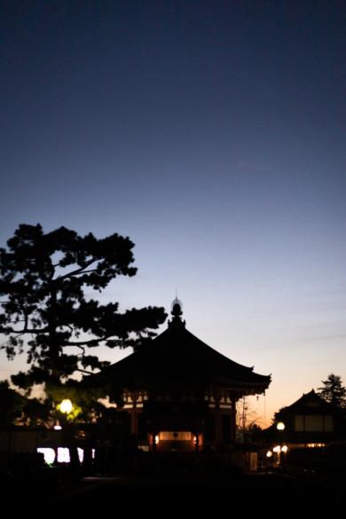 Kofukuji au crépuscule