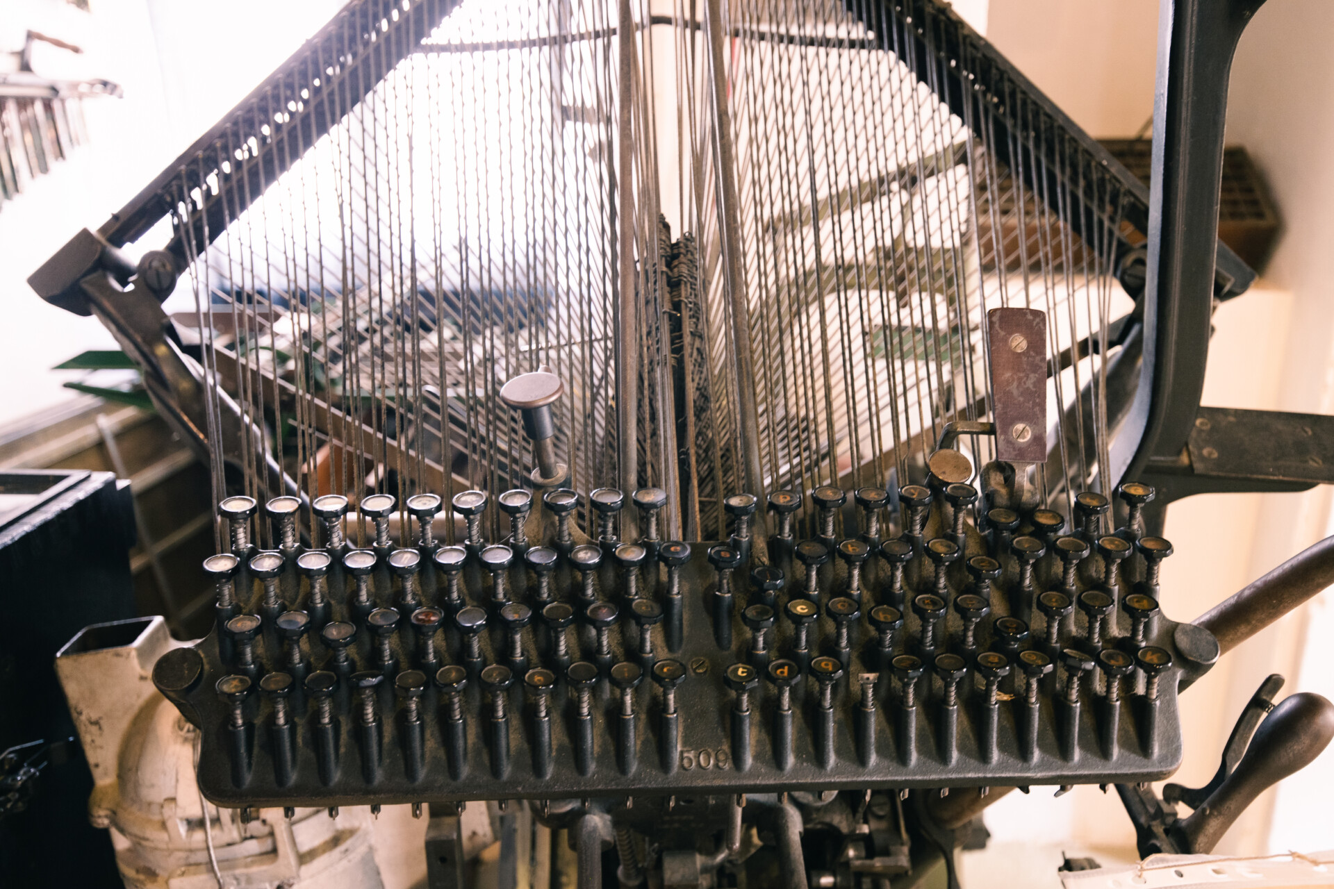 Vielle machine d'imprimerie
